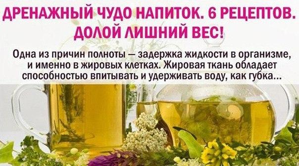 Дренажные напитки для похудения в домашних условиях отзывы